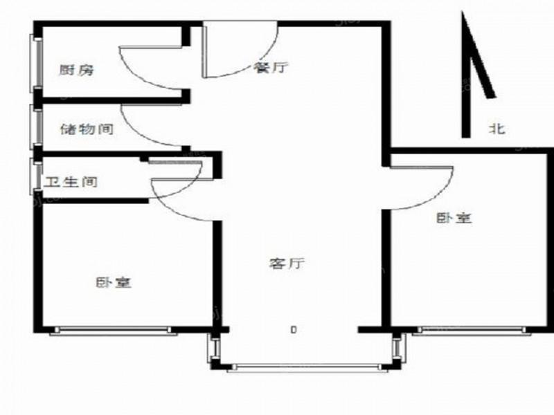 玄武区北京东路北京东路小区2室2厅户型图