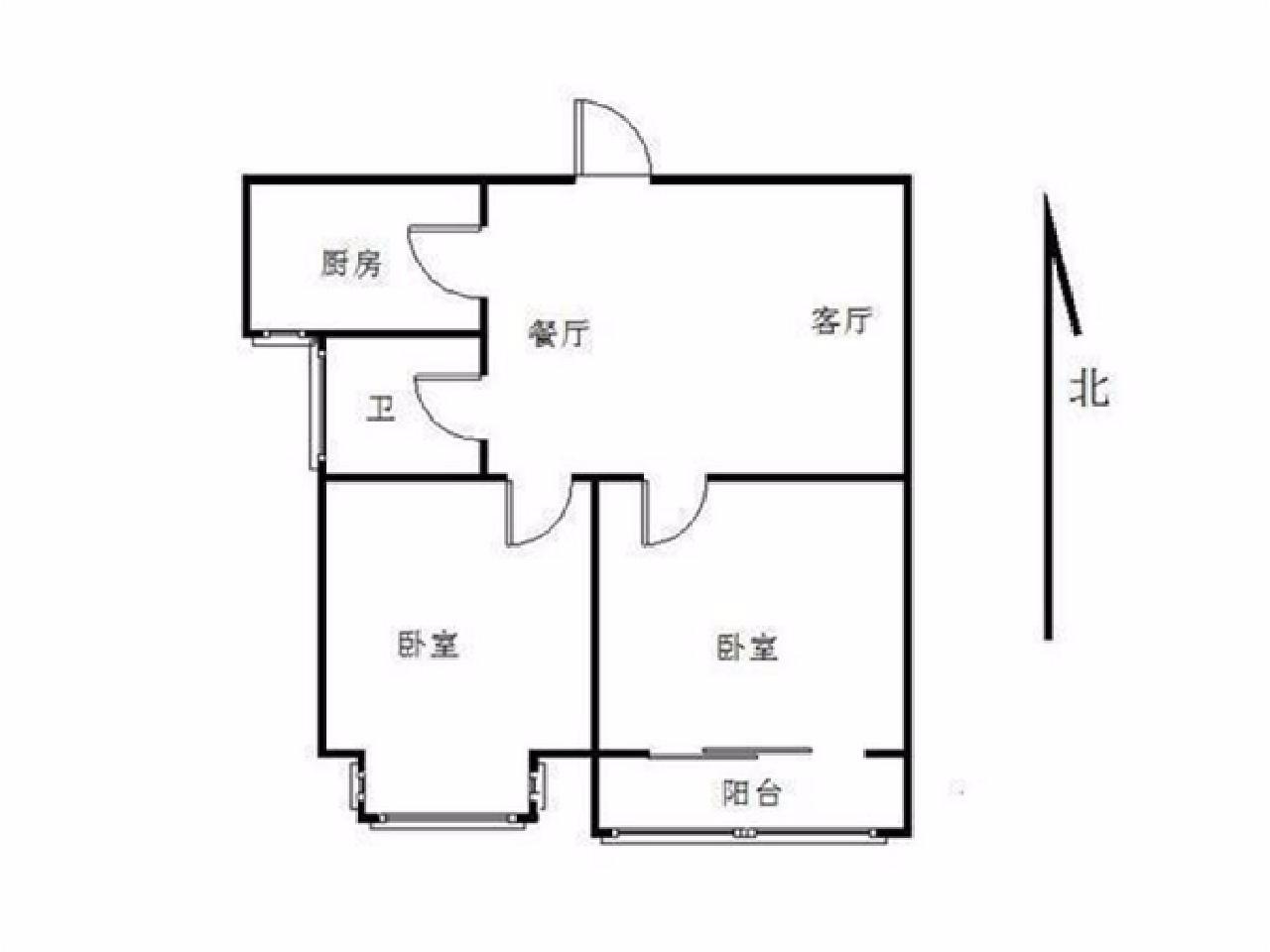 栖霞区仙林东方天郡西区2室1厅户型图