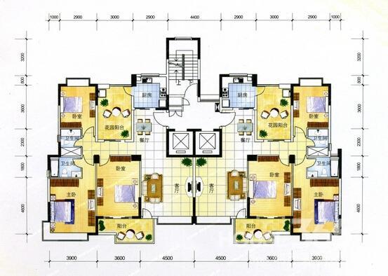 绿地电梯别墅户型图