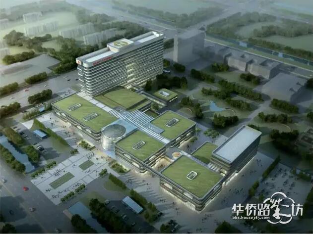 命名为南京医科大学第四附属医院 这是全景俯视效果图,感觉很高
