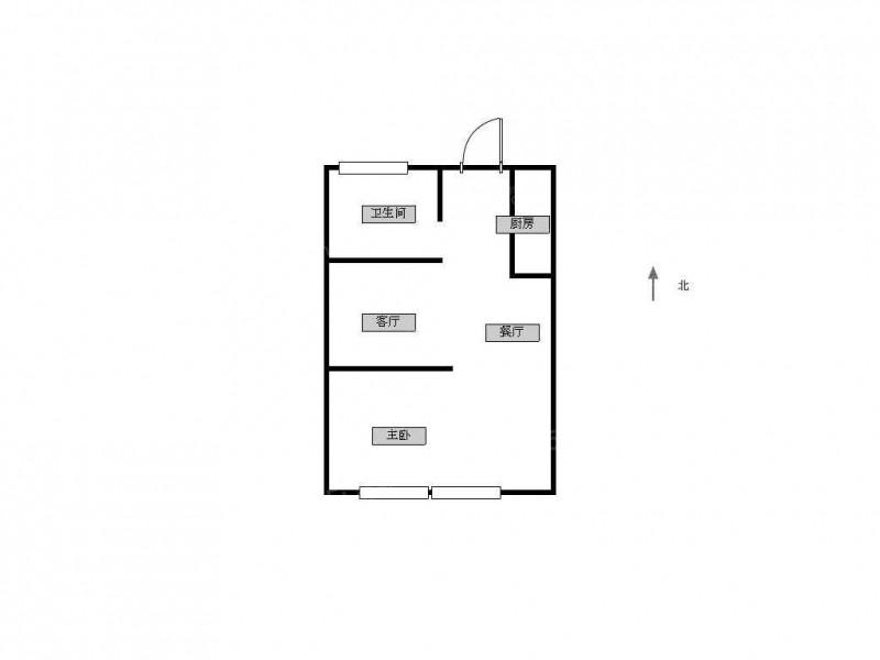 建邺区奥体紫金西区中央1室1厅户型图