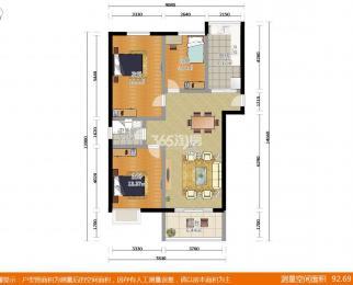 凤凰和美3室2厅1卫124平米精装产权房2011年建