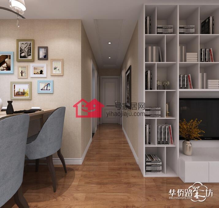 新城花漾紫郡89平三室两厅现代简约风格装修案例