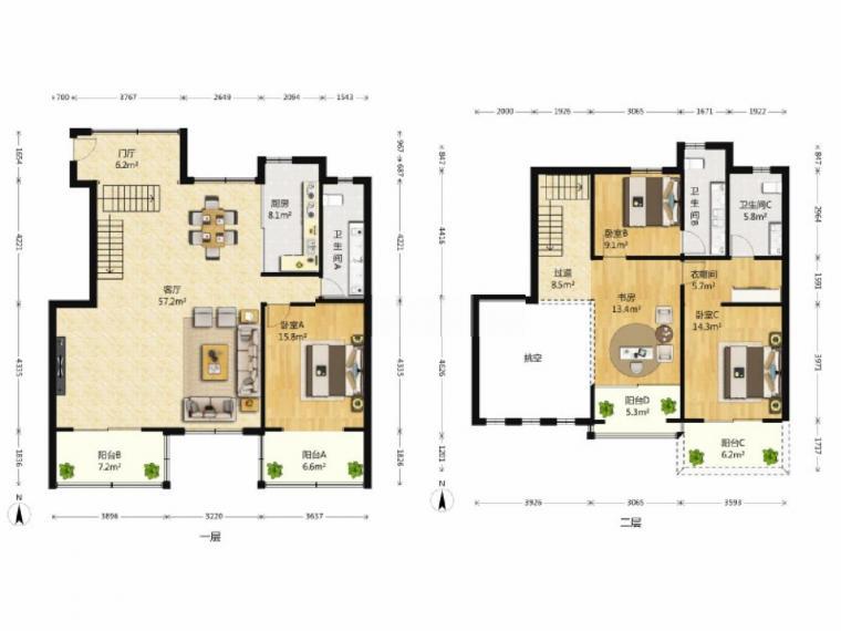 带电梯别墅 地中海风格装修 满两年 小区新 环境好 100万装修