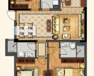 3号线地铁 翠屏诚园 精装大3房 中央空调地暖 满2年 游小小学