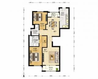 海玥名都 精装大两房 品质豪宅 恒湿恒温 素质住户 金中实小陪读