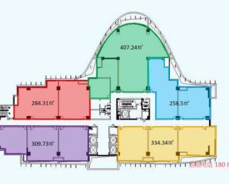 南京南站地铁口 正大喜玛拉雅 甲级写字楼平层赠送面积多