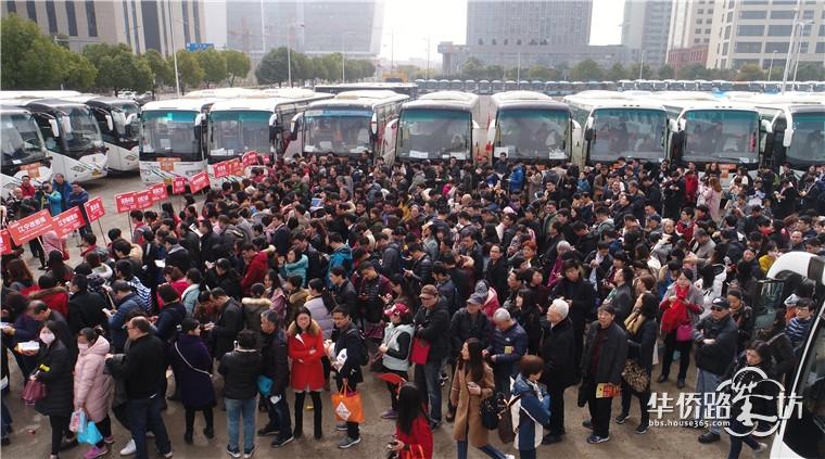 【2018春晓行动】365看房团震撼全城!16条线路,69辆大巴,超3300人实探南京64家楼盘!