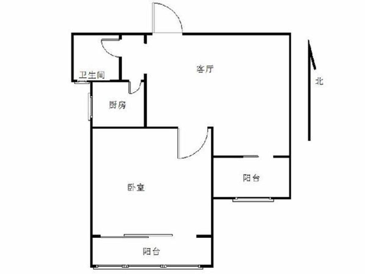 栖霞区仙林亚东城东区1室1厅户型图
