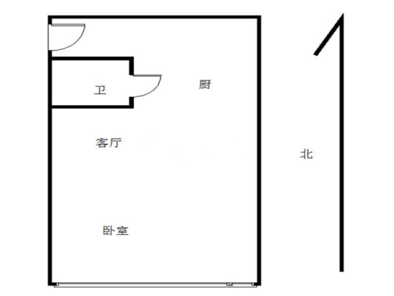 鼓楼区华侨路金轮国际广场1室1厅户型图