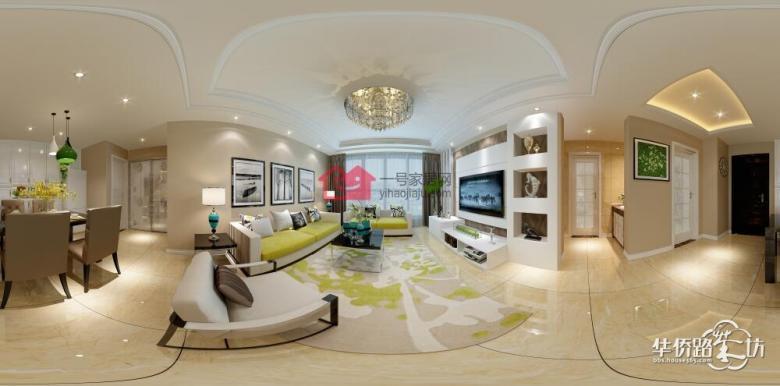 朗诗青春街区89平三室两厅现代简约风格装修案例