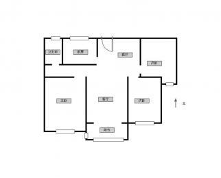 五矿E区 南外对面 精装三室 家具齐全 带车位包含物业费 随时看