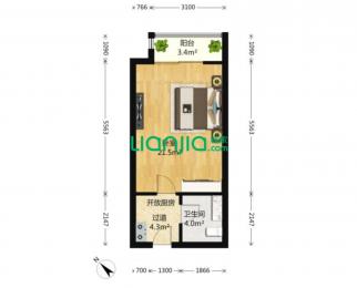 九龙湖经典双地铁单身公寓 拎包入住