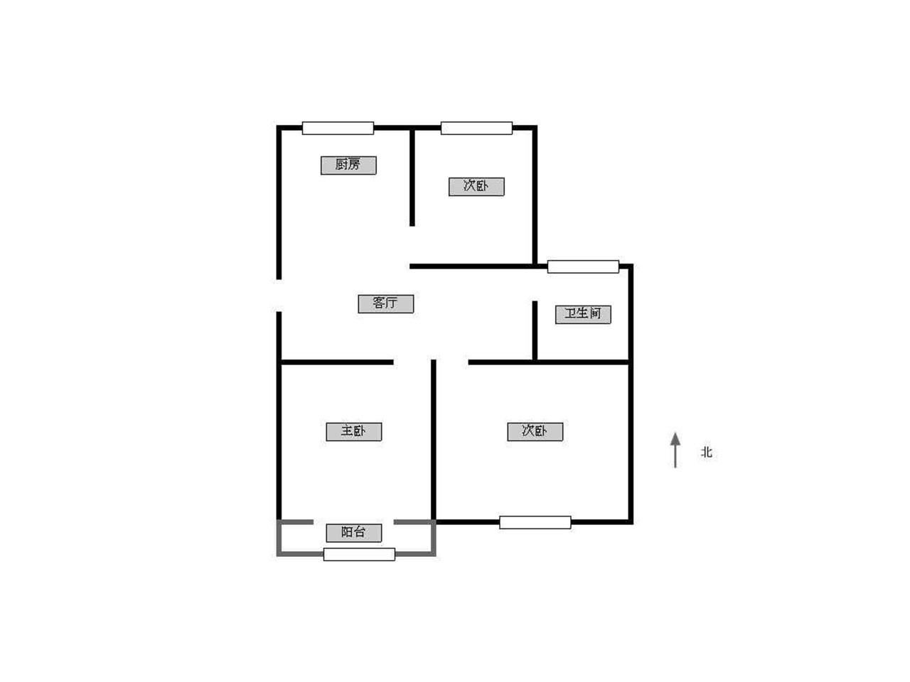 秦淮区洪家园映山菁华1室1厅户型图