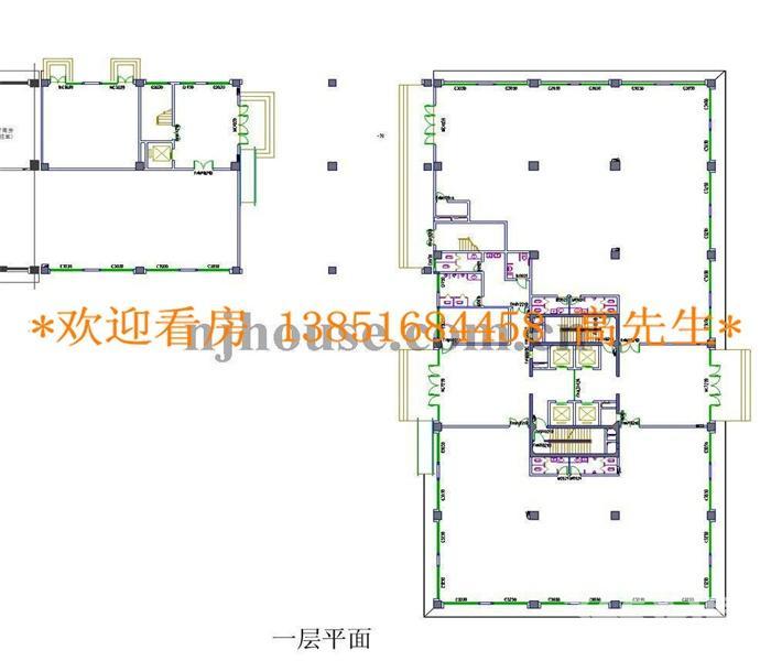 建邺区万达广场河西万达广场1室0厅户型图