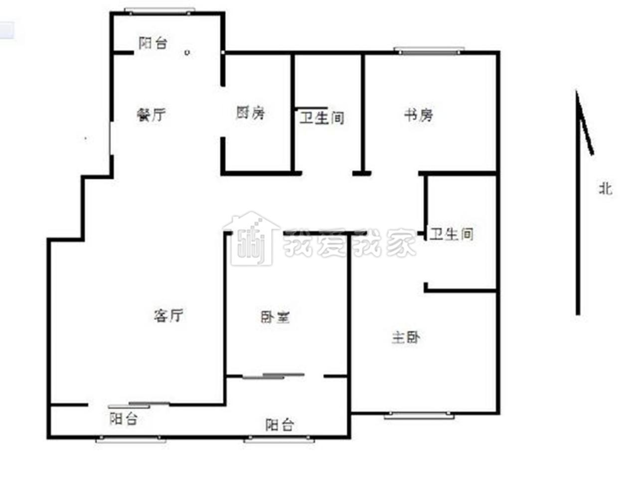 栖霞区仙林南大和园3室2厅户型图