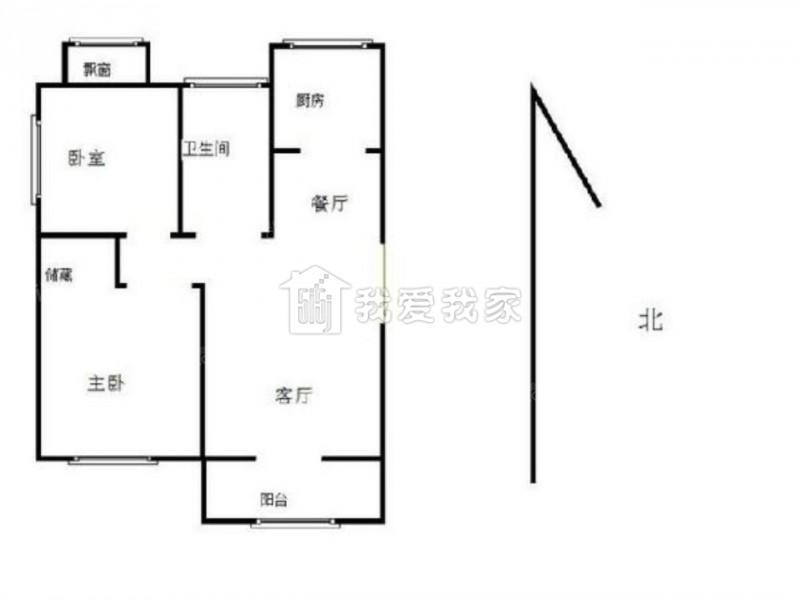 栖霞区仙林南大和园2室2厅户型图
