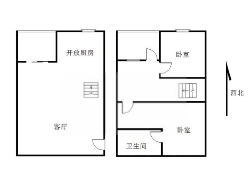 玄武区樱驼花园苏宁紫金嘉悦1室0厅户型图
