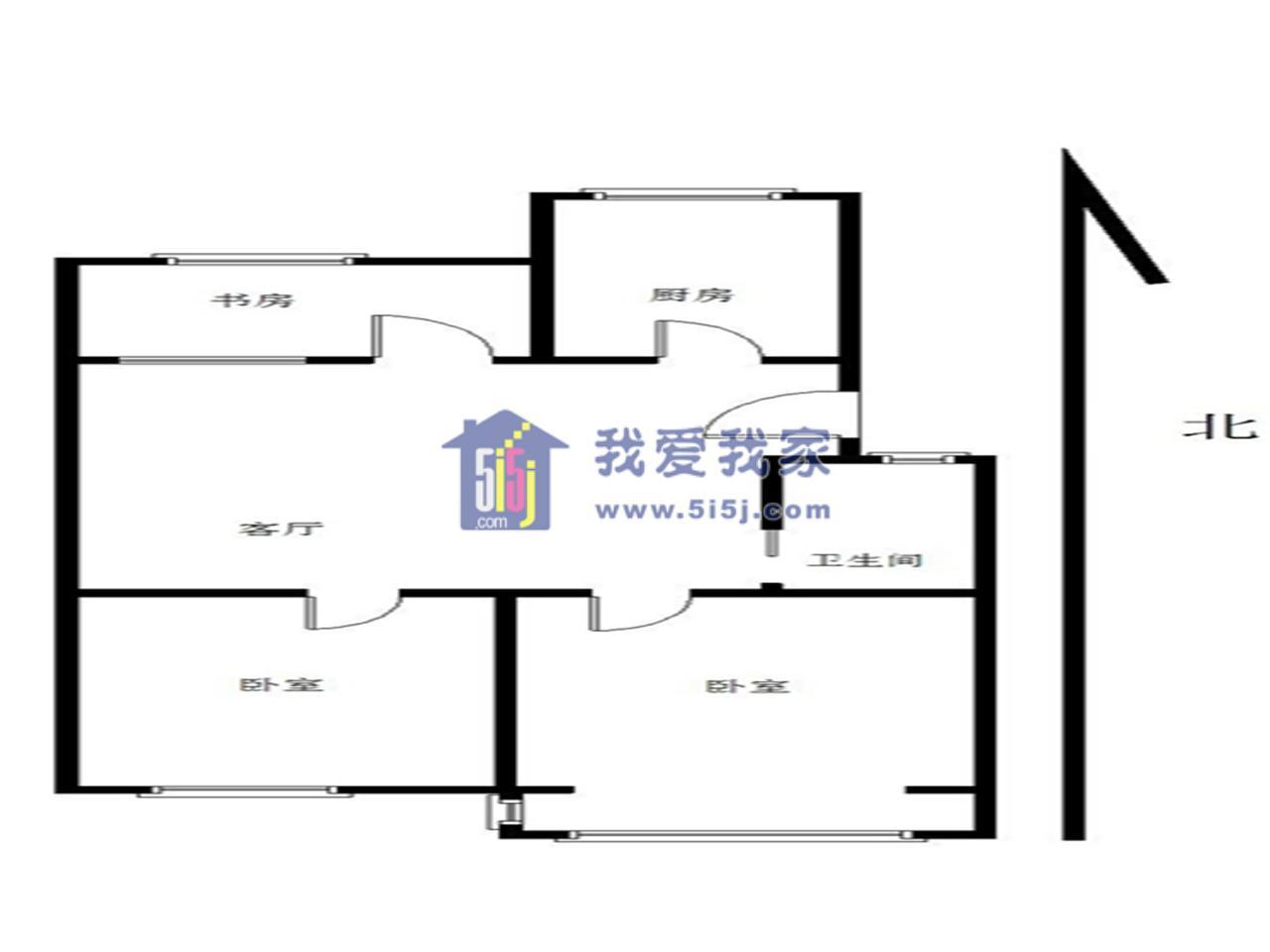 建邺区兴隆鸿达新寓2室2厅户型图
