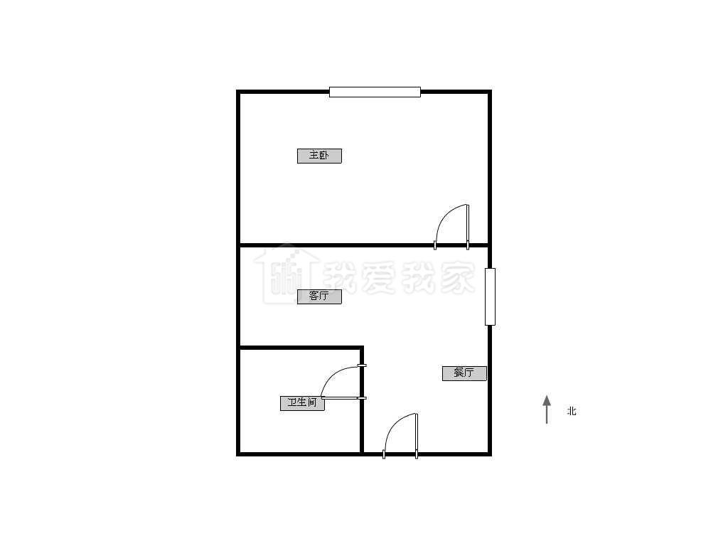江宁区百家湖汇金新天地1室1厅户型图
