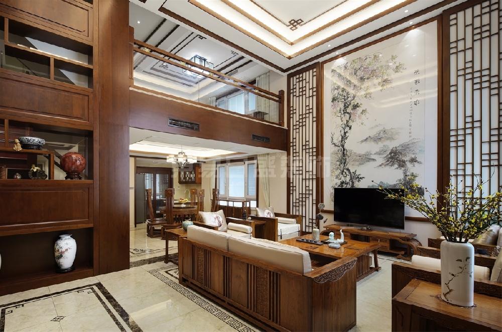 【最新实景案例】南京别墅装修设计 503平中式全案设计实景图