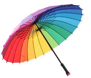 彩虹长柄晴雨伞
