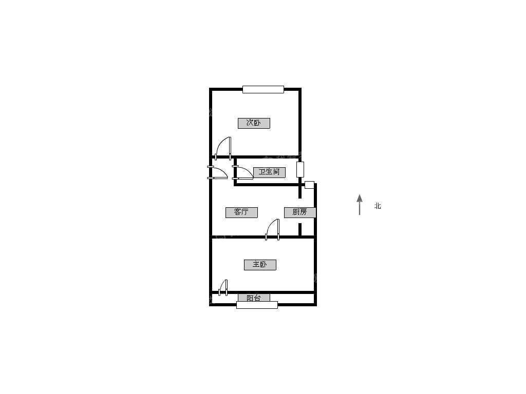 鼓楼区福建路金川雅苑2室1厅户型图