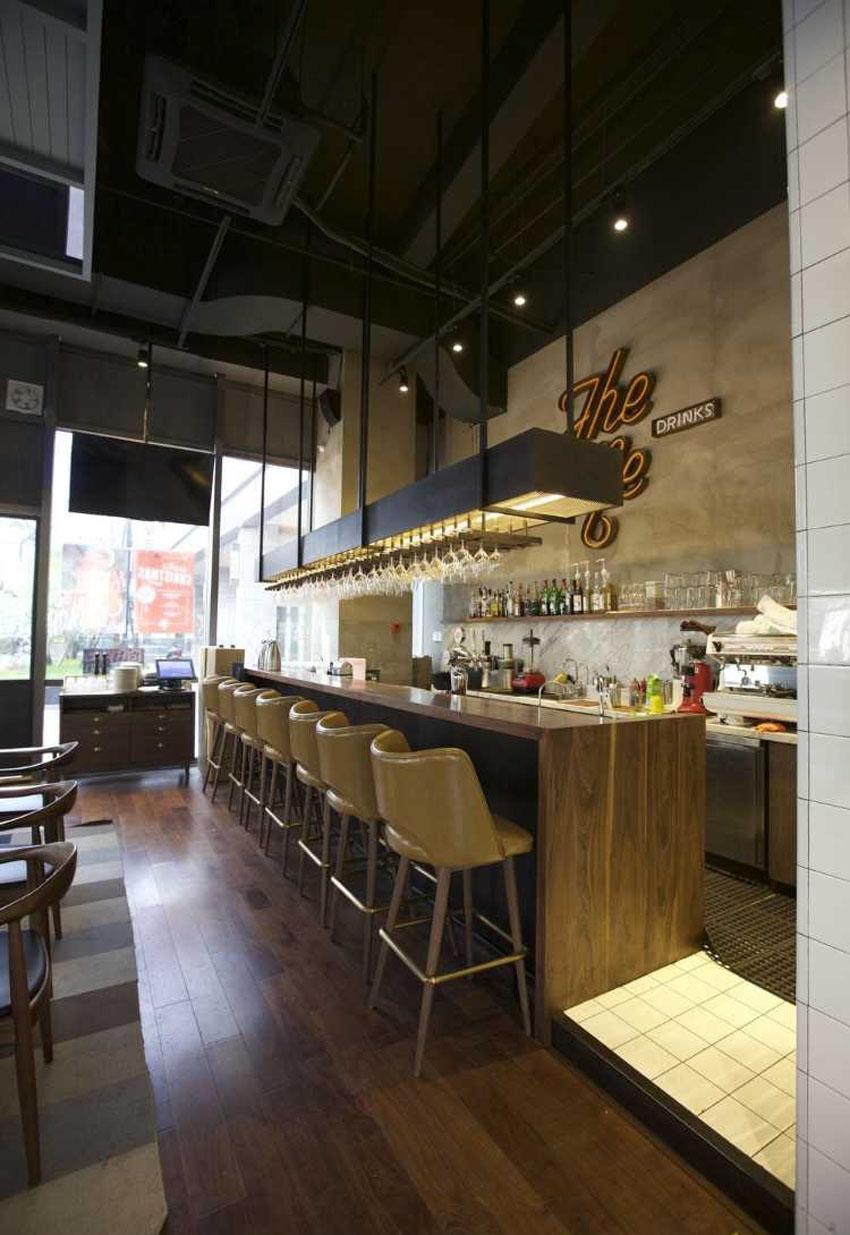 咖啡馆吊顶装修效果图 宽850*1235高
