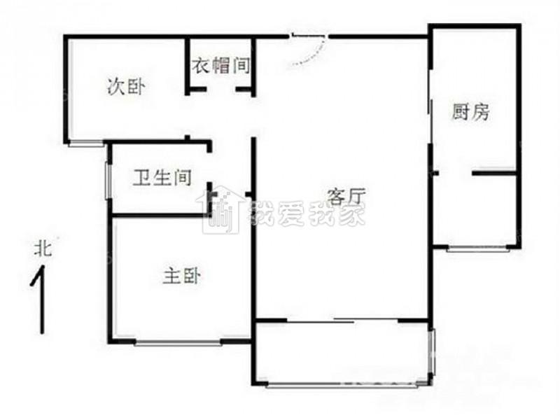 鼓楼区凤凰西街中海凤凰熙岸一期2室2厅户型图