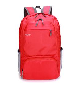 NNC折叠双肩包-红色