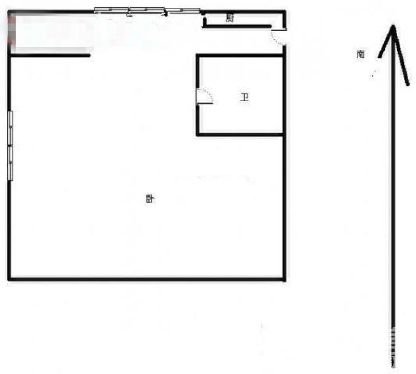 鼓楼区大桥南路圣淘沙花城1室0厅户型图