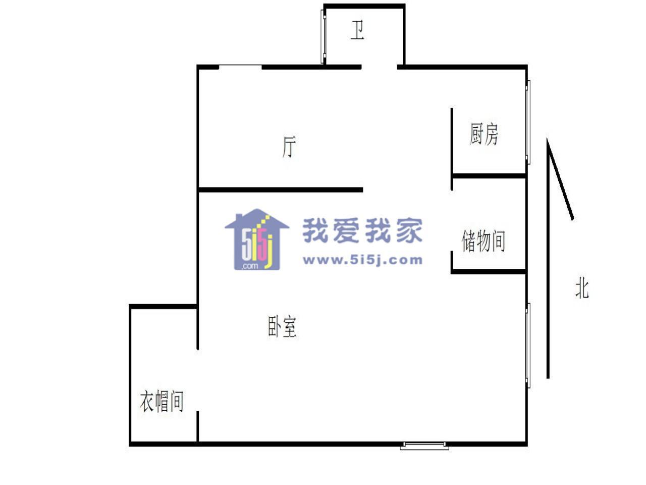 玄武区后宰门后宰门街32号1室1厅户型图