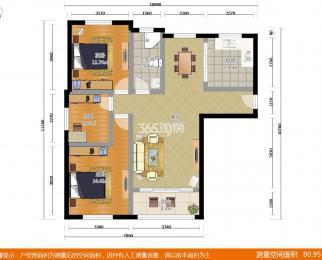 琥珀森林一期3室2厅1卫111平米豪华装产权房2015年建