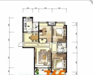 天采光 不限购 真实房源 绿地新都会 豪华装修三房两厅 位置好全天