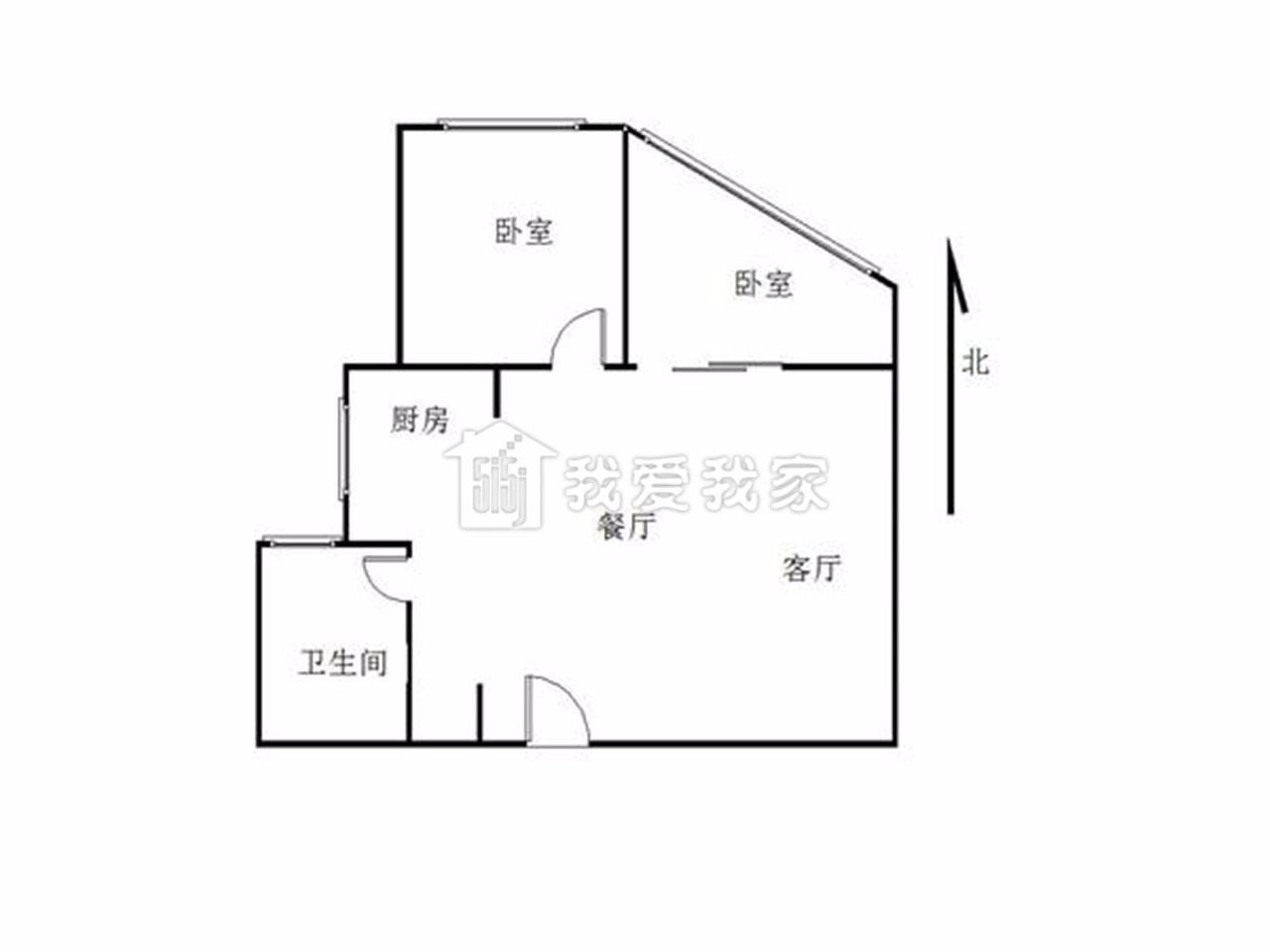 栖霞区仙林亚东城西区1室1厅户型图