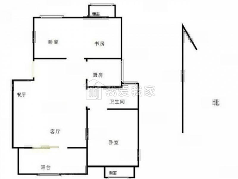 栖霞区仙林南大和园2室1厅户型图