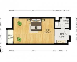 整租<font color=red>峨嵋公寓</font> 1室1厅 东