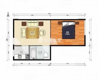学则路 三味公寓 精装单室套 看房提前约 急租