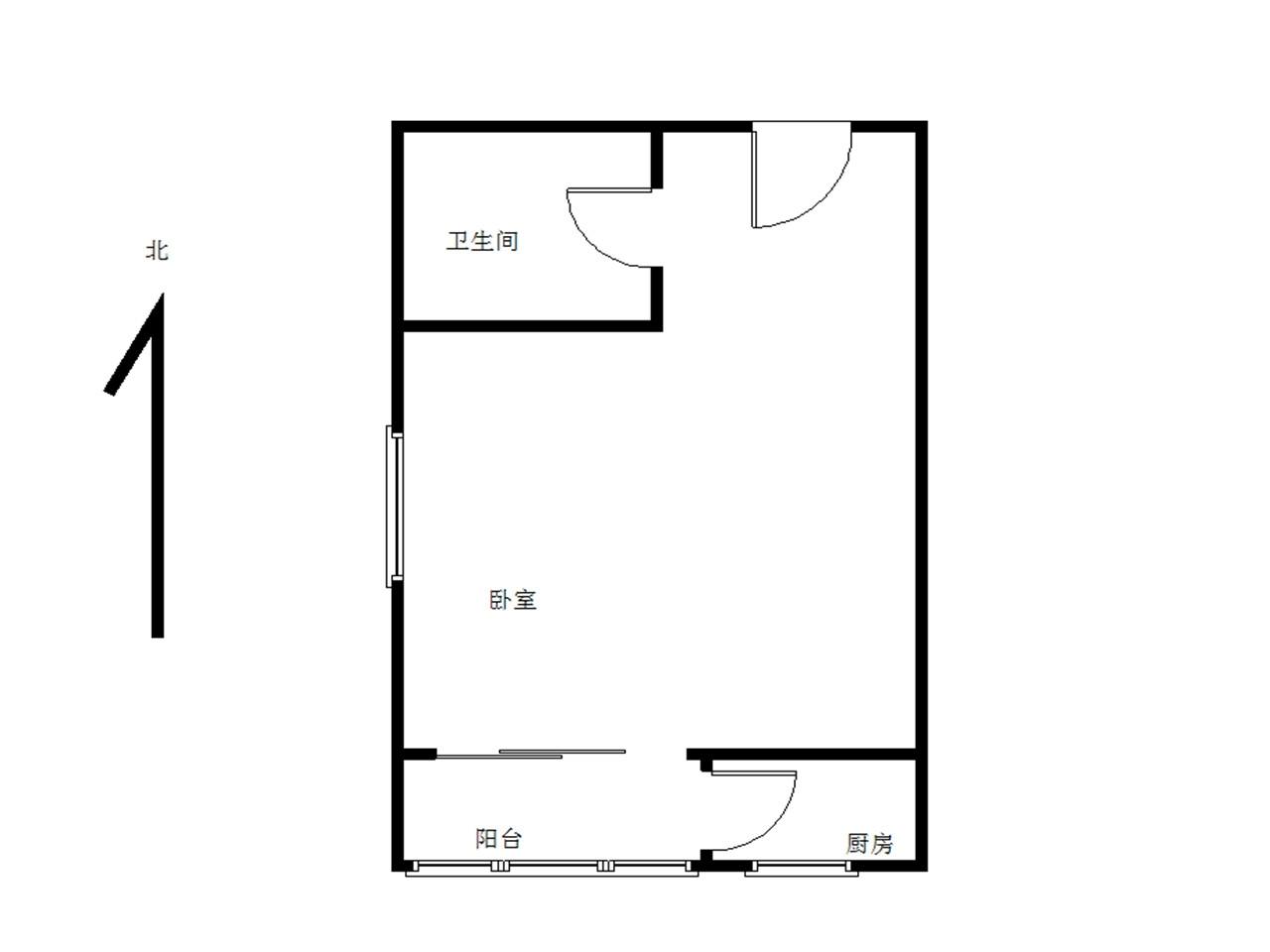 江宁区岔路口南方花园枫彩园1室1厅户型图