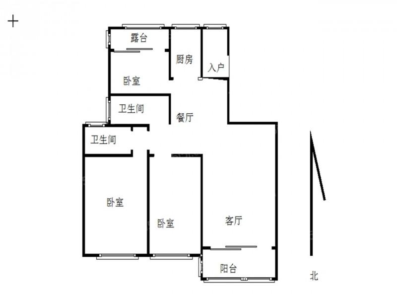 江宁区麒麟恒大龙珺3室2厅户型图