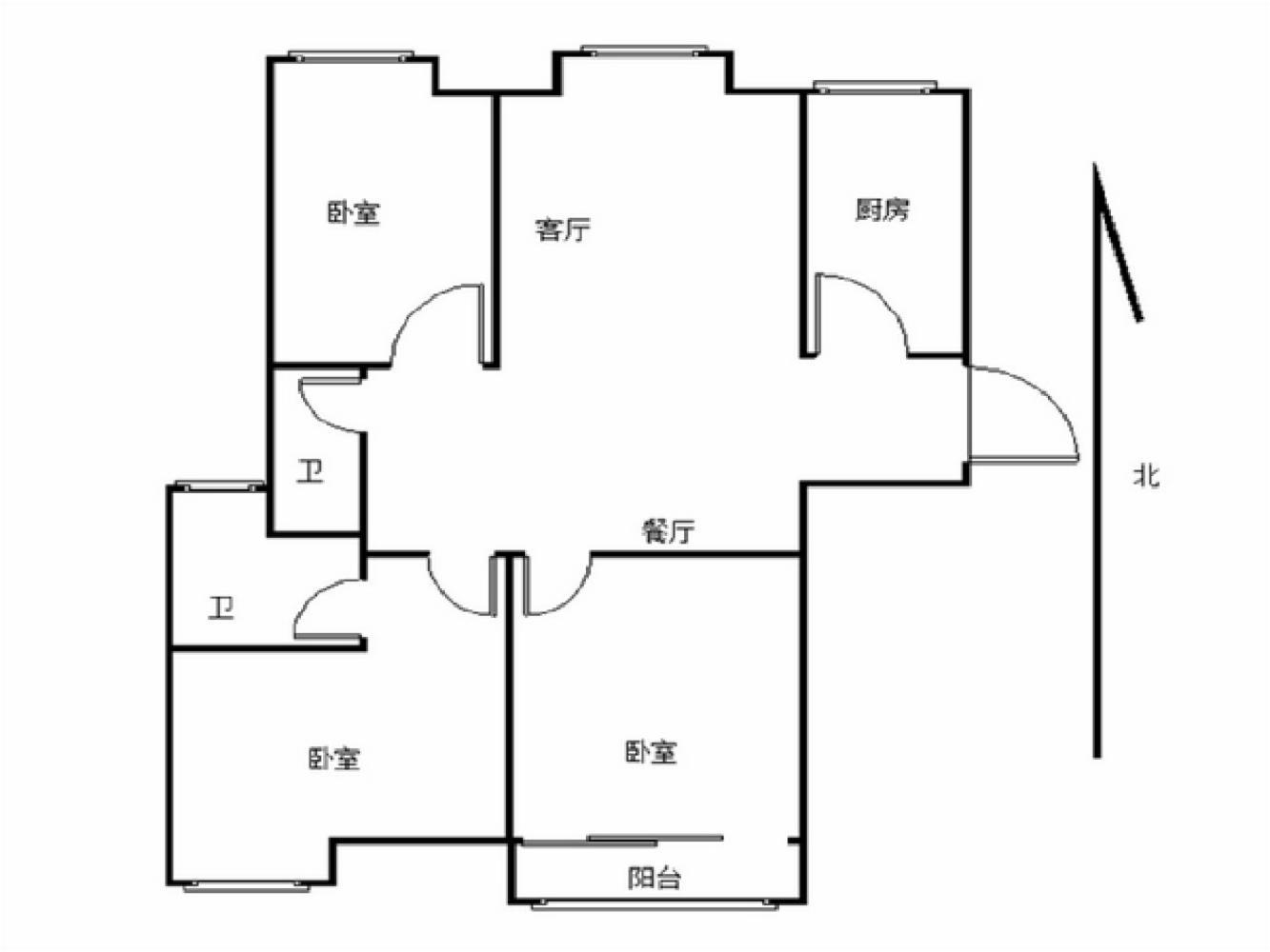 栖霞区仙林东方天郡东区3室2厅户型图