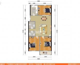 洪庙一巷3室2厅2卫120平米豪华装产权房1998年建