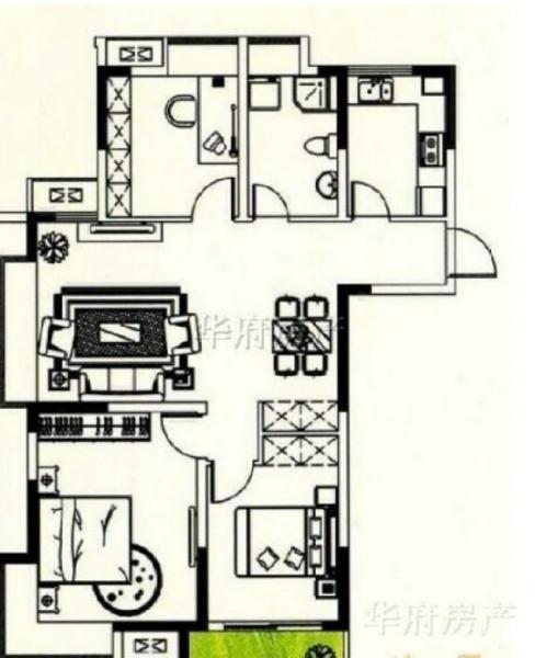 尧化 上城风景 精装三室两厅 学区房 地铁口 住房