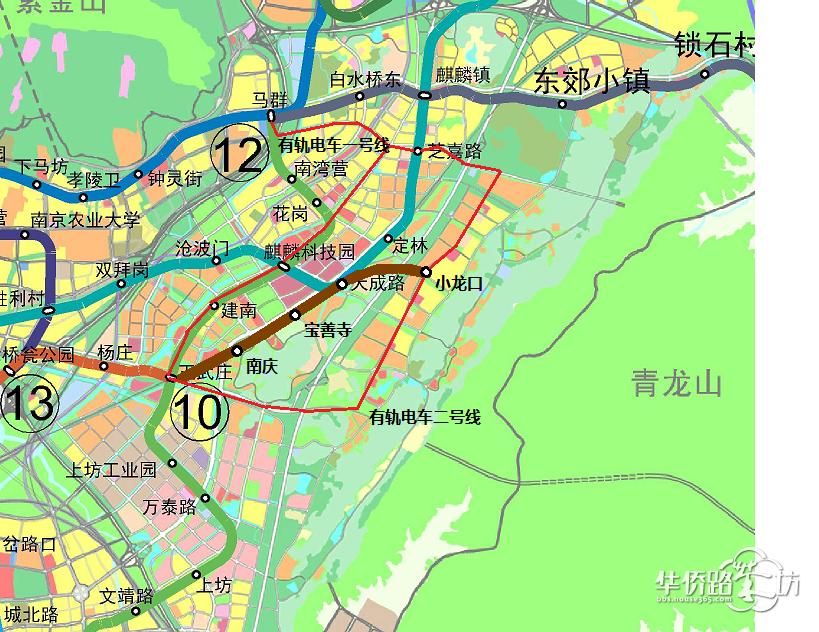 相关的西祠链接,支持的可以顶贴:http://www.xici.net/d226964408.htm 最近看到新闻报道说地铁5号线江宁段可以不按发改委要求然后开建江宁段支线工程,既然麒麟科创园的财政是独立的,建议10号线二期从王五庄站沿着京沪高铁东延几公里(或者作为南京地铁10号线二期麒麟科创园支线工程)至麒麟科创园的核心区,此举可以激活麒麟科创园板块,达到四两拨千斤的效果。因为很多之前建议10号线二期沿着规划的12号线北延至马群,给的回复是会侵占12号线和8号线的轨道,现在建议10号线二期从王五庄站沿