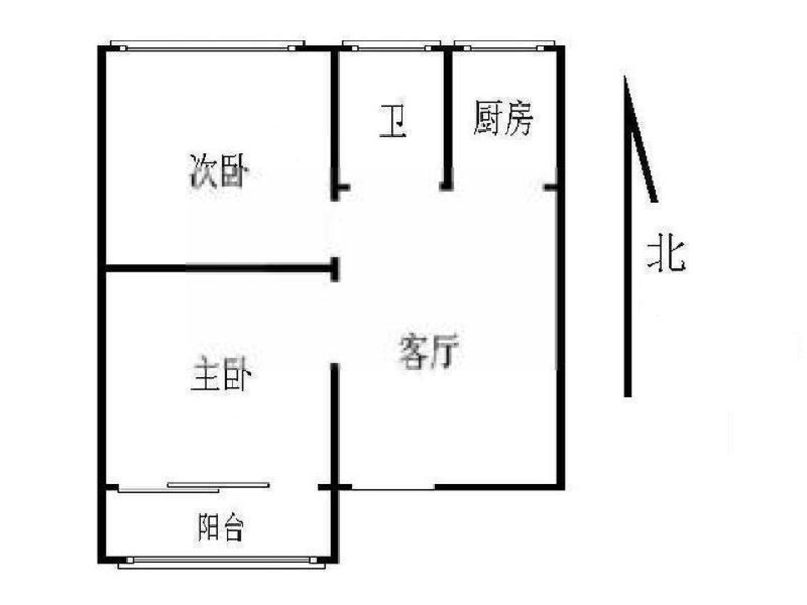 48平方米房屋平面图