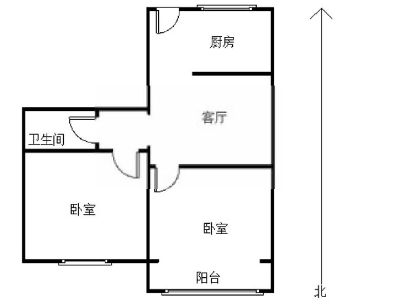鼓楼区宁海路上海路81号2室1厅户型图