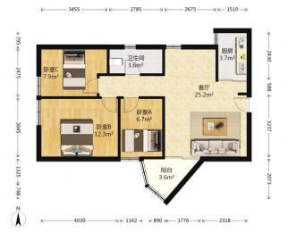 新街口 小火瓦巷 金盾公寓 三房 西南 采光好 三初钟英施教区