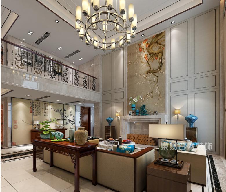 现代新中式客厅装修实景