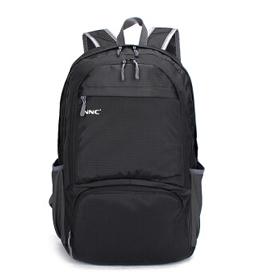 NNC折叠双肩包-黑色
