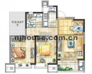 金地自在城 精装88平米3房 家电齐全新装 拎包入住 生活便